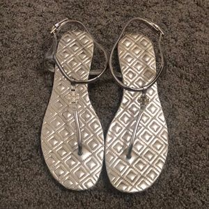 Tory Burch silver/gold sandals